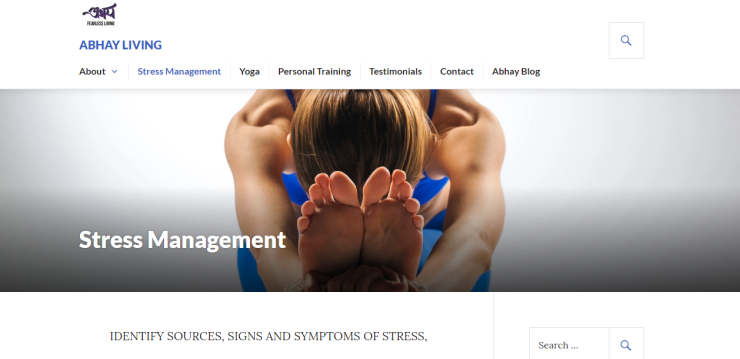 Abhay - Content - Stress Management