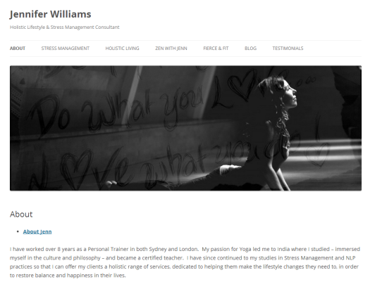 Jennifer Williams Holistic Lifestyle Stress Management Consultant - Home Page