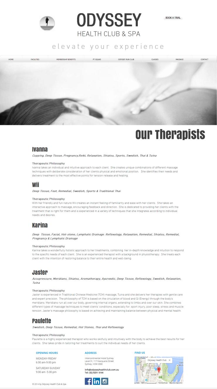 Odyssey - Massage Therapists 1