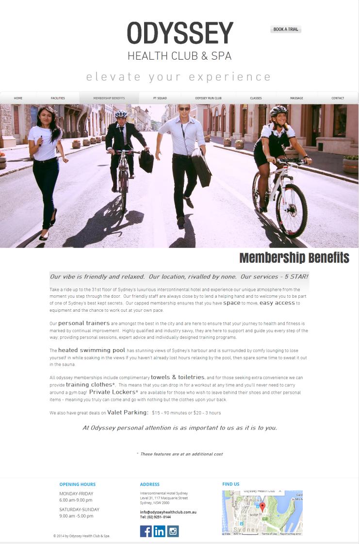 Odyssey - membership benefits 1