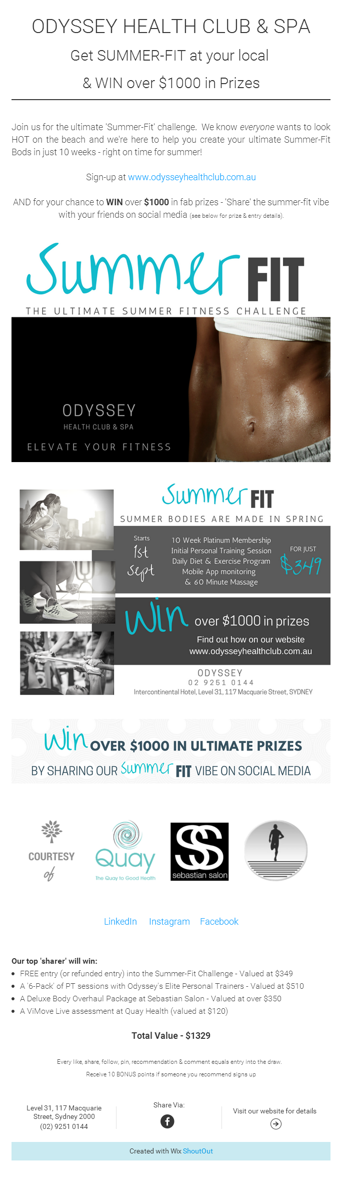 Odyssey - Summer Fit Promo Page 1